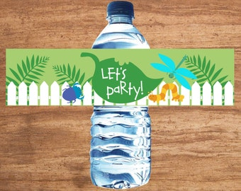 Instant Download Insect Party Water Bottle Labels