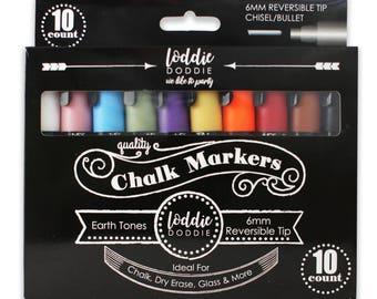 10 Count Seasonal Colors - Liquid Chalk Markers by Loddie Doddie