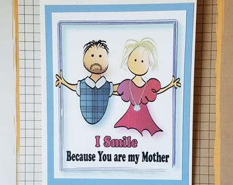 Funny Mothers Day Card - Mother's Day Card Funny - Funny Mothers Day Card from Son -  Mother's Day Card - Funny Mom Card and Envelope Set