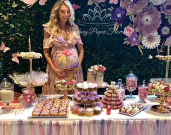 ITS a BOY GIRL paper flower backdrop/Paper flower wall/Wedding Backdrop/Bridal Baby shower/Nursery decor/Christening/Sweet 16/Holy communi