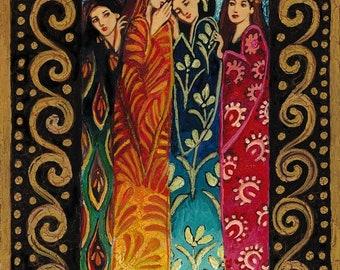 Her Secrets 11x14 Print Fine Art Mythology Bohemian Gypsy Psychedelic Goddess Art