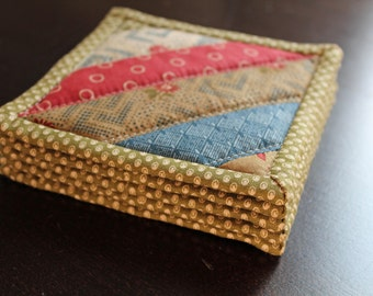 Quilted Coasters - Set of 5 in Harmony by Jan Patek for Moda