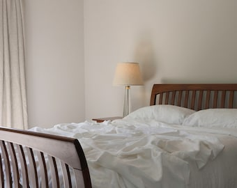 Pure White Linen Bedding Set - Simple Bedding - Made to Order in Atlanta