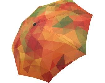 Orange Umbrella Autumn Color Umbrella Designed Umbrella Geometric Umbrella Rainbow Umbrella Photo Umbrella Automatic Abstract Umbrella