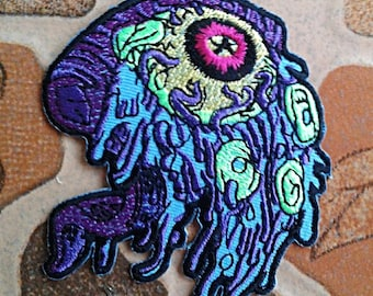 Eye monster iron on patch.