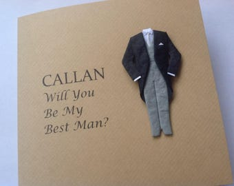 Will You Be My Usher Card, Best Man, Usher, Groomsman, Page Boy, Witness, Will you be my Best Man Card, Groomsman Card