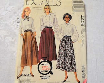 McCalls 4408 Sewing Pattern Misses Skirts Size 10 12 14 DIY Fashion Sewing Crafts PanchosPorch