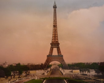 Paris The Eiffel Tower 1940s image - art print - gift for artists - for art lovers - The City of Lights framable