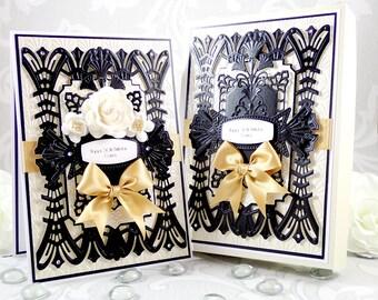 Art Deco Birthday Card, Gatsby Birthday Card, Luxury Birthday Card, Boxed Birthday Card, 21st/30th/40th/50th/60th/70th/80th Birthday Card