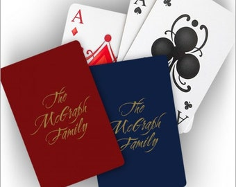 Personalized Playing Cards - Foil Stamped -  3749