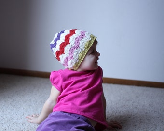 Instant Download - Crochet Pattern - Happy Hats (Newborn to Adult)