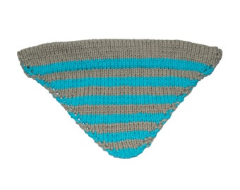 Gray/Blue striped bandana