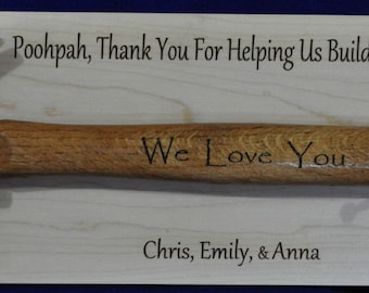 Gift For Dad ~ Gift For Grandpa ~ Engraved Hammer ~ Great Gift For Guys ~ Gifts ~ Custom Hammer Gift ~ Hammer ~ Birthday Gift For Guys ~ USA