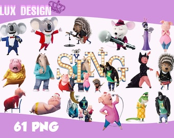 61 Sing Movie ClipArt- PNG Images 300dpi Digital, Clip Art, Instant Download, Graphics transparent background Scrapbook