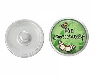 Be Yourself Snap - Compatible with Studio66 LLC -  Gingersnaps - Magnolia and Vine - Noosa 18-20mm Base - Handpressed Snaps