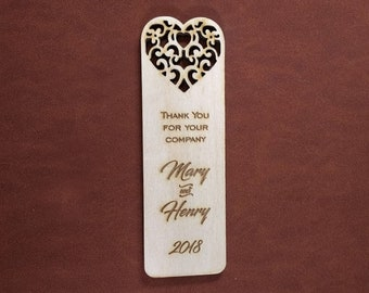 Bookmark - Wedding, Save the Date, Favor, Decoration, Gift