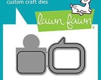 Lawn Fawn - Lawn Cuts - Dies - Reveal Wheel Speech Bubble Add-On