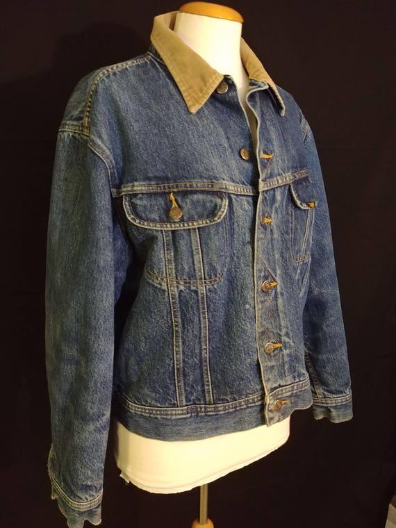 Vintage / Rare / Storm Rider / Lee / Denim / Wool Jacket / 70's / 80's / Corduroy / Minimal / Retro ypZd8co5
