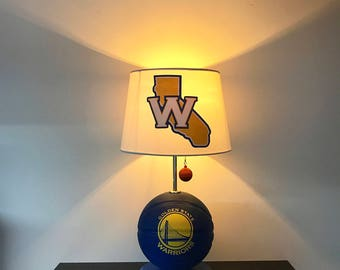 Golden State Warriors Lamp, NBA Light, Basketball Light, NBA, Basketball  Lamp,