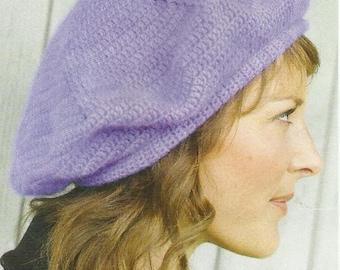 Crochet Classic Soft Beret PDF Crochet Pattern Instant Download