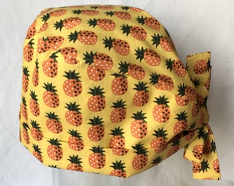 Pineapple yellow design fabric Cap