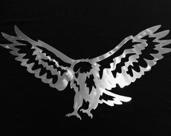 Eagle Landing Metal Wall Art & Eagles wall art | Etsy