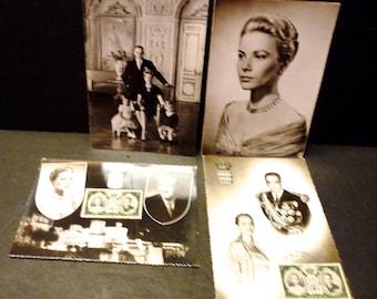 Princess Grace Kelly of Monaco Post cards- set of 4 unused