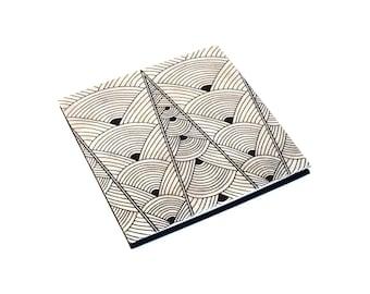 4x4 Accordion photo album, Baby brag book, accordion book, photo scrapbook, accordion scrapbook, custom photo album, black and white
