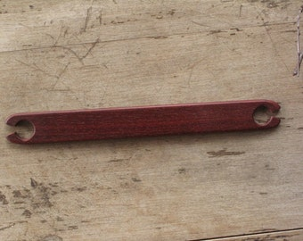 Exotic Wood Weaving Stick Shuttle - Bloodwood
