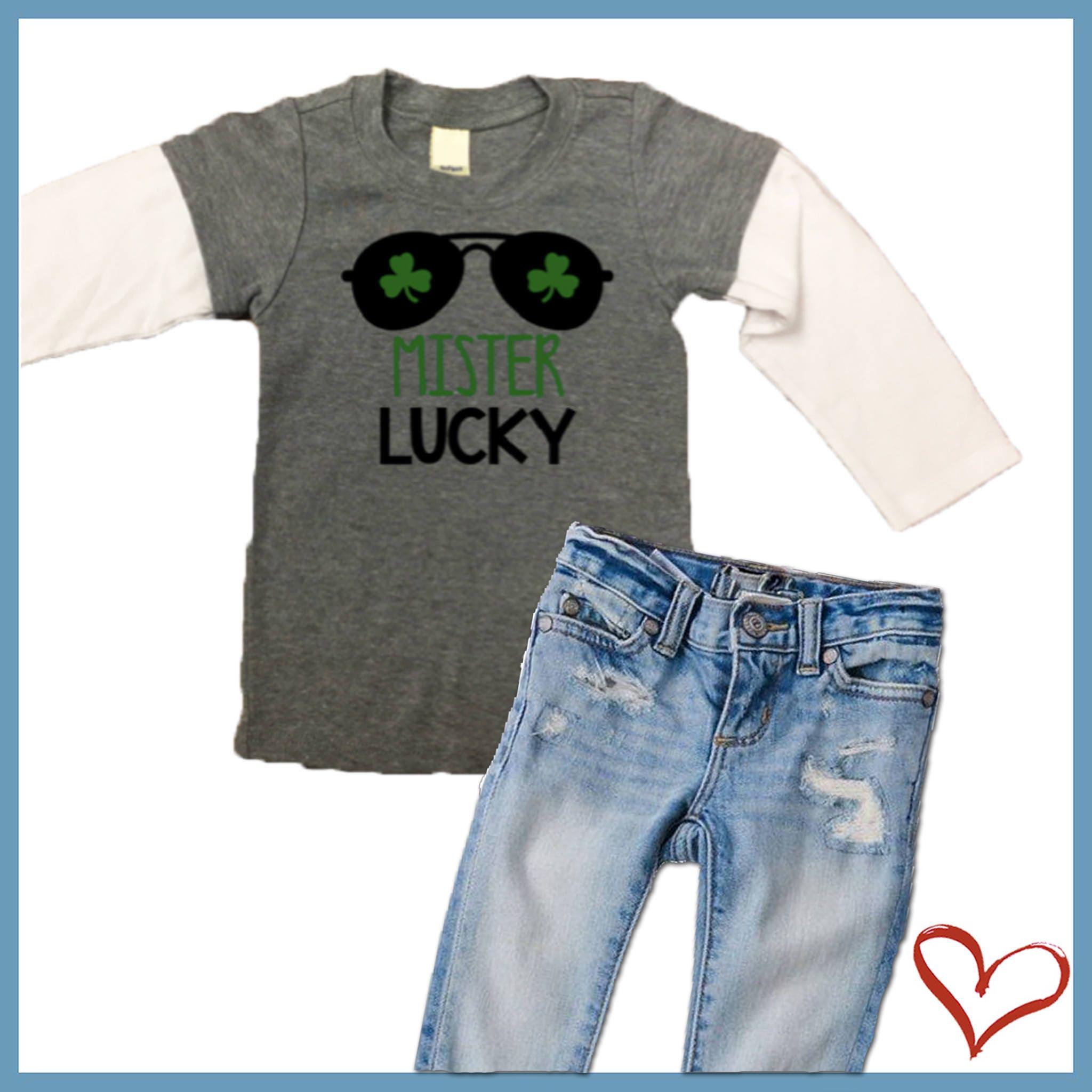 St Patricks Day Shirt Mister Lucky Saint Patricks Baby