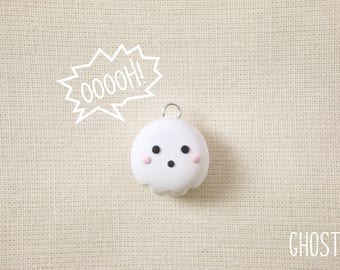 Cute Ghost Custom Polymer Clay Charms/Necklaces *MADE TO ORDER*