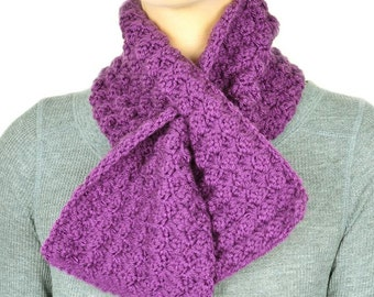 Cozy Keyhole Scarf - PDF Crochet Pattern - Instant Download