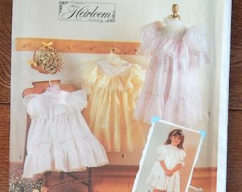 Special Dress Sewing Pattern w Shadow Embroidery, Yoke & Hem Ruffle/ Heirloom Simplicity 7354 Oliver Goodin/ Girls Sz 3, 4, 5, 6, 7, 8/Uncut