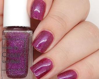 Black Forest Gateau - 5-10ml - handmade nail polish - purple nail polish - holographic nail polish - 5-free - vegan - cruelty free