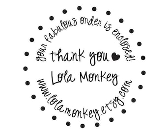 Thank You Custom Clear Block Stamp --8005
