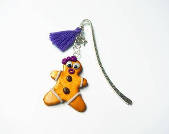 Bookmark polymer clay gingerbread