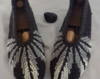 Knitted handmade 40/42 indoor slippers