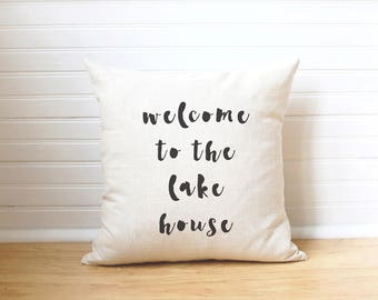Lake Pillow Lake House Pillow Lake House Gift Lake Decor Lake Cabin Life is Better at the Lake Beach House Pillow Summer Pillow Beach Decor
