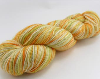 Hand Dyed Sock Yarn MCN Citris Salad Handdyed hand-dyed