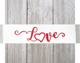 Love Embroidery Design, Love, Machine Embroidery Design, 3 Sizes
