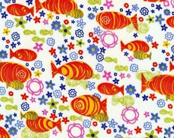KOI, Cotton Interlock Knit Fabric, by the yard
