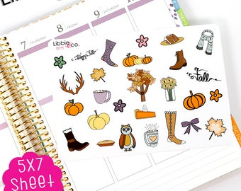 MC99 Fall Stickers...Perfect for the Erin Condren, Happy, or Inkwell Press Planners!!