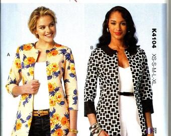 Kwik Sew 4104 new uncut size X small - X large womans jacket