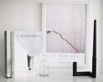 La Rose Mur | Blush Pink Architectural Modern Photograph Wall Decor Art Print or Poster - Blogger, Scandi Style Design. FREE Shipping