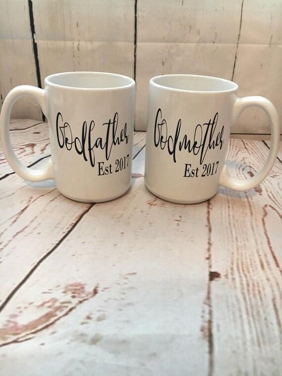 Godmother Wedding Gift: Godparents Mug Couple Mugs Godparents Gift Ideas Custom
