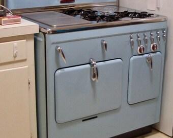 Rare Baby Blue Vintage Chambers Range Stove Model 90c