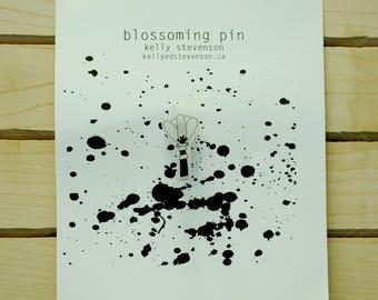 individual blossoming pin