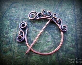 Keltische Kupfer Penannular Brosche