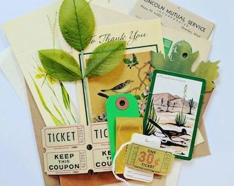 Nature Ephemera Pack / 20 Pieces / Vintage Ephemera / Paper Ephemera / Journal