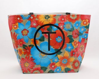 Personalized Tote Bag - Custom Oilcloth Beach Bag
